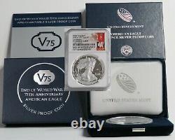 2020-w V75 Silver American Eagle Ngc Pfuc 70 Premières Versions