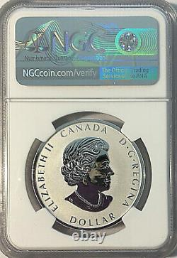 2021 Canada $1 Paix Dollar Uhr Ngc Reverse Proof 70 Ide Taylor Signé