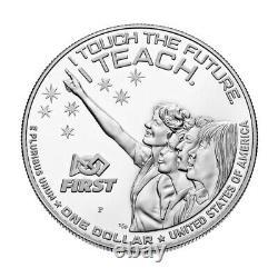 2021 P Us Christa Mcauliffe Preuve Commémorative Dollar D'argent Ngc Pf70 Ucam