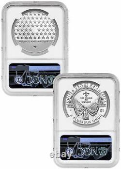 Argent 2pc American Legion Dollar Et Médaille Ngc Pf70 Uc Fr Mercanti Étiquette Sku58214