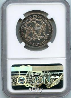 C12948- 1871 Preuve Assis Liberté Demi-dollar Ngc Pr62 960 Minted
