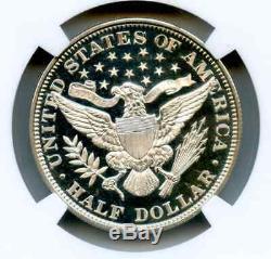 Incroyable 1898 Barber Half Dollar Proof Ngc 67 Étoiles Cameo Liquid Ice Fields Pop 3