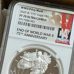 Ngc Pf70 2020 W Fin De La Seconde Guerre Mondiale 75e Anniversaire American Eagle V75 Pre Orde