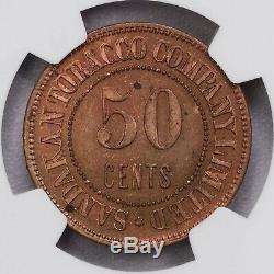 Ngc-pf64 / 63rb Nd B. N. Bornéo 10 + 20 + 50cents + 1dollar Jeton 4pcs Proof Set