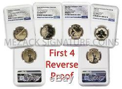 Première 4 Preuve Américaine Innovation Inversée Premier Jour De Presse 4-monnaie Ngc 70