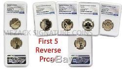 Première 5 Preuve Inversée Innovation Américaine Premier Jour De Presse 5 Coin Ngc 70