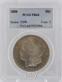 Preuve 1880 P Ngc Pr 64 Argent Morgan Dollar 1 $ Date Clé Coin Graded 52pr