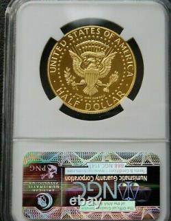 W Gold Kennedy 2014 Demi-dollar 50e Anniversaire Ngc Pf70 Ucam