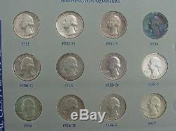 Washington Quarter Dollar Argent Set Complet 1932 1964 1965-1969 Unc Proofs