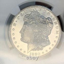Wow! Rare 1880-s Ms67 Pl Ngc $1silky Cheekproof-like Morgan Silver Dollar Coin